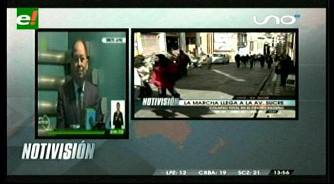 Romero dice que las carreteras están expeditas y que sólo cinco fábricas acataron el paro de la COB