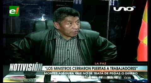 """Senador Montes: """"Los ministros cerraron las puertas a los trabajadores"""""""