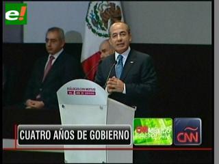 Felipe Calderón celebra sus cuatro años de gobierno