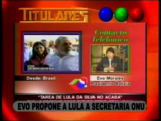 Evo propone postular a Lula para la secretaría de la ONU