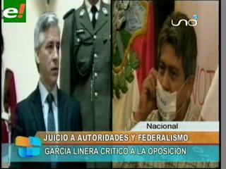 """García Linera: """"Esos caballeritos no saben que es federalismo"""""""
