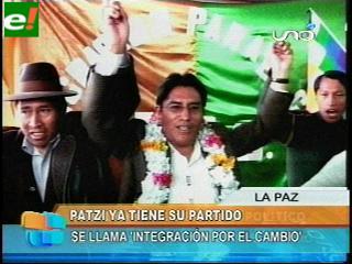 Patzi participará en las elecciones del año 2014 con partido propio