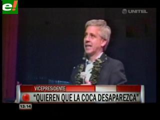 """García Linera: """"Defenderemos con la vida el cultivo de coca"""""""