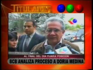 BCB analiza proceso a Samuel Doria Medina