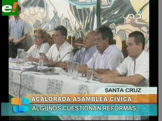 Bochornosa Asamblea de la Cruceñidad, aprobó en grande modificaciones al Estatuto