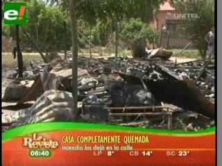 Incendio deja en la calle a una familia humilde de El Retoño