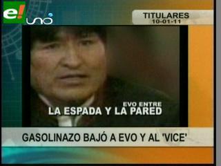 Gasolinazo bajó a Morales y a García Linera