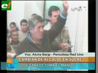 José Santos es el nuevo Alcalde de Sucre