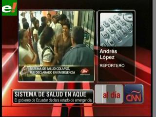 Ecuador declara el estado de emergencia sanitaria