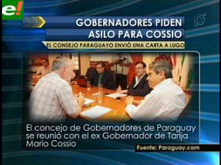 Gobernadores de Paraguay piden a Lugo asilo político para Cossío