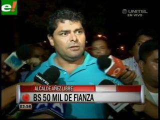 Con el pago de bs 50 mil de fianza dejan en libertad a Wilfredo Áñez