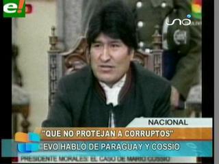 """Evo: """"Cossío no logrará enfrentarme con Lugo"""""""