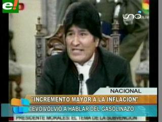 Morales ratifica que el incremento salarial será superior a la inflación