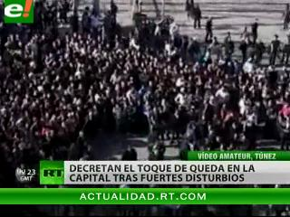 Decretan toque de queda en la capital de Túnez