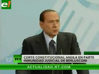 La justicia italiana anula en parte la inmunidad judicial de Berlusconi