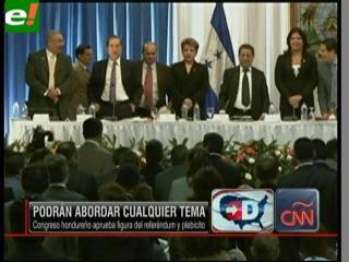 El Congreso de Honduras aprueba reforma constitucional