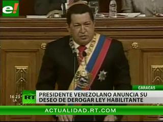 Chávez dispuesto a derogar ley habilitante