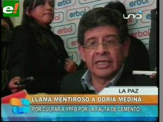 Villegas llama mentiroso a Doria Medina