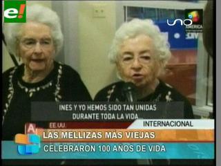 Mellizas que cumplen 100 años