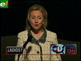 Hillary Clinton sugiere que podría abandonar el Departamento de Estado en 2012