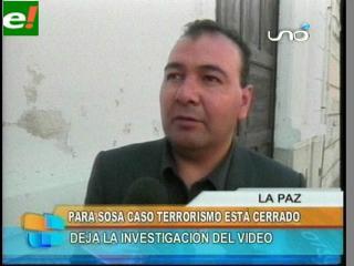 """Soza: """"El caso terrorismo terminó"""""""