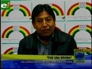 """Choquehuanca: """"Lo de Atacama fue una broma"""""""