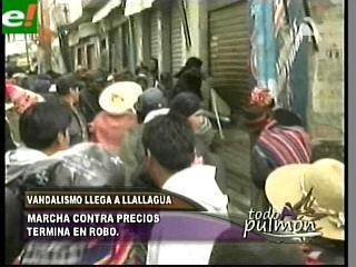 Vandalismo en Llallagua