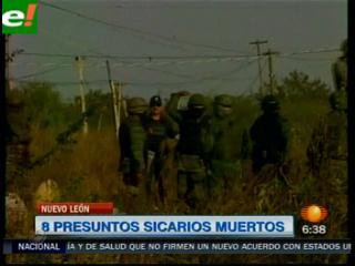 """Ocho muertos y 11 """"narcobloqueos"""" en Nuevo León"""