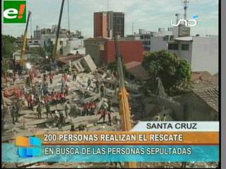 Continúa el rescate en el edificio Málaga
