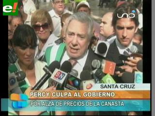 Fernández culpa al Gobierno por alza de precios en la canasta familiar