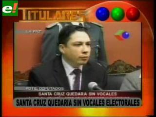Santa Cruz quedará sin vocales electorales