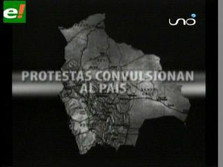 Protestas convulsionan al país