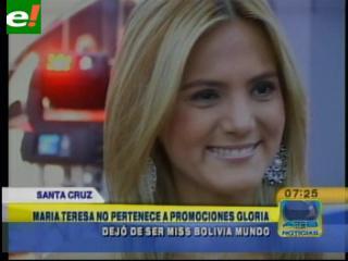 Polémica: PG destituye a María Teresa Roca, ya no es Miss Bolivia Mundo