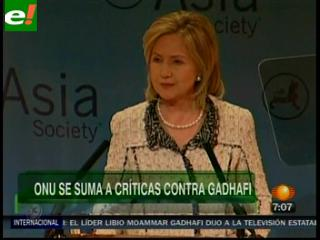 """La ONU exige a Gadafi el cese """"inmediato"""" de la violencia"""