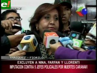 Excluyen a Llorenti y otras autoridades de la imputación por el caso Caranavi