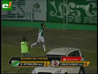 Oriente salvó el honor y ganó 2-0 a Huánuco