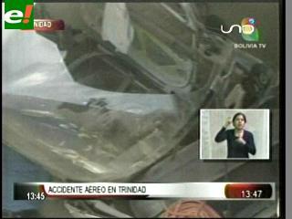 Cae una avioneta en Trinidad