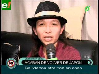 Bolivianos retornan de Japón