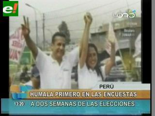 Humala toma el primer lugar a dos semanas de las elecciones peruanas
