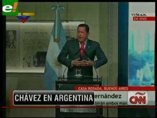 Cristina y Chávez firman una serie de acuerdos bilaterales