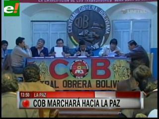 Trabajadores de todo el país marcharán en La Paz