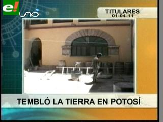 Tembló la tierra en Potosí