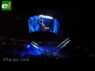 León Gieco fue el invitado especial del último concierto de U2 en Argentina