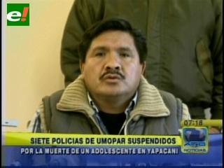 Suspenden a siete policías por el operativo de Yapacaní