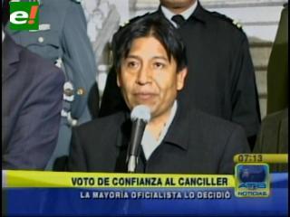 Asamblea Legislativa otorgó voto de confianza a Canciller