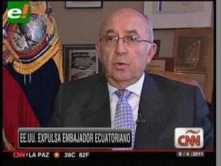 EE.UU. expulsa al embajador de Ecuador en Washington