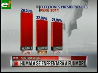 La pelea en Perú será entre Humala y Fujimori