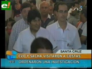 """Evo pide """"cumbre contra la inseguridad"""" tras visitar a Rubén Costas"""