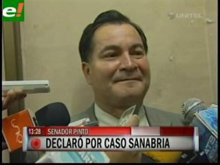 Senador Pinto declaró ante la Fiscalía