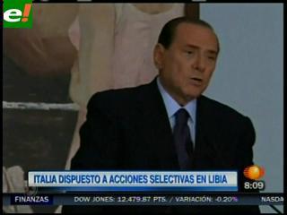 Italia: Berlusconi autorizó bombardeos aéreos a Libia